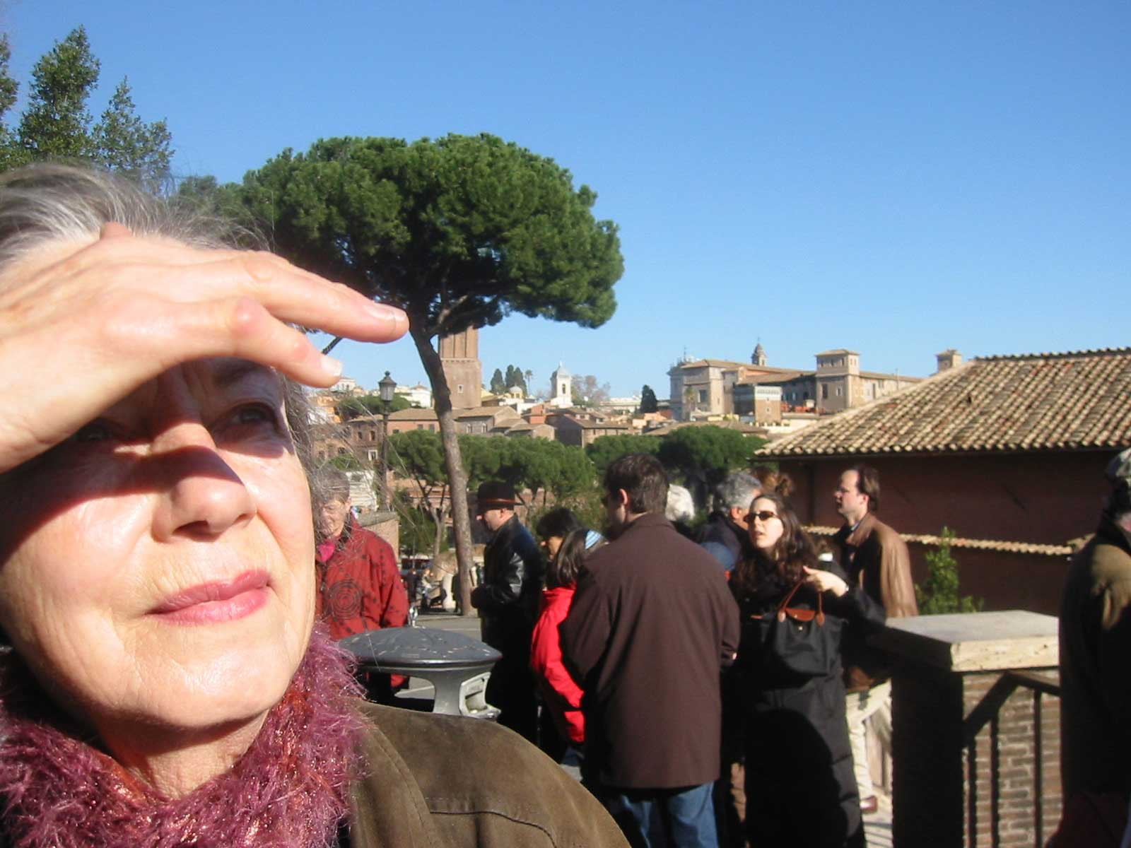 Lindsey in Rome, January 2004